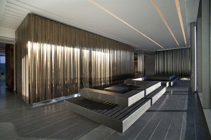 Modern Office Lobby Furniture escada head office - munich | munich, lobbies and parisians