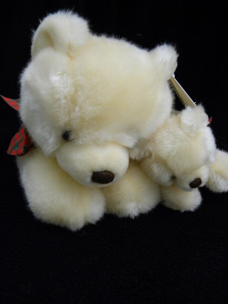 St Jude Teddy Bear Plush Limited Edition Tags Off White Mom Baby Cubby Jr #RBIRonBanafatoInc