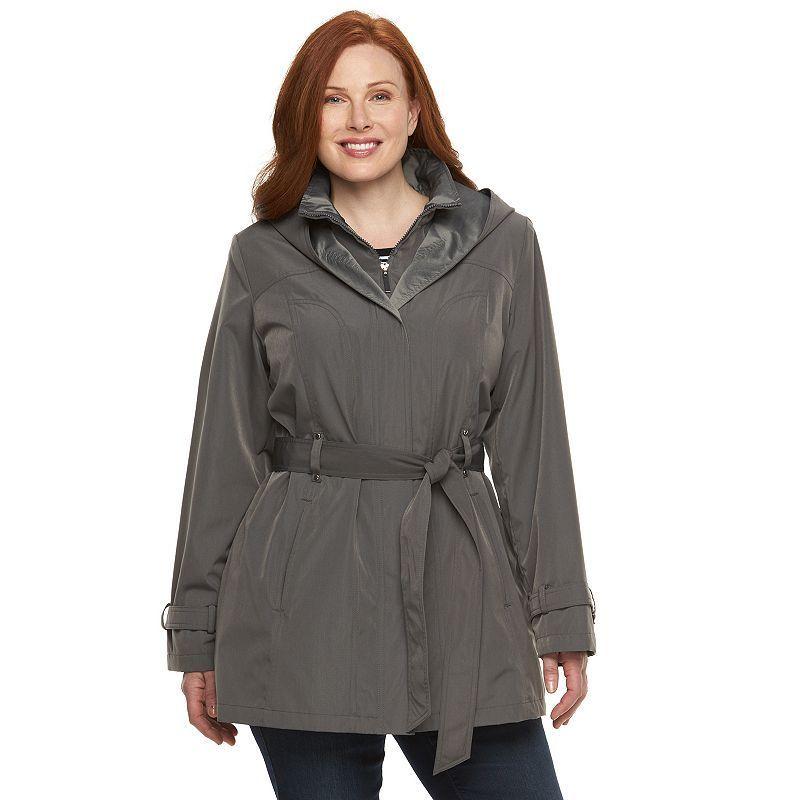 Plus Size Braetan Hooded Rain Jacket, Women's, Size: 2XL, Brown ...