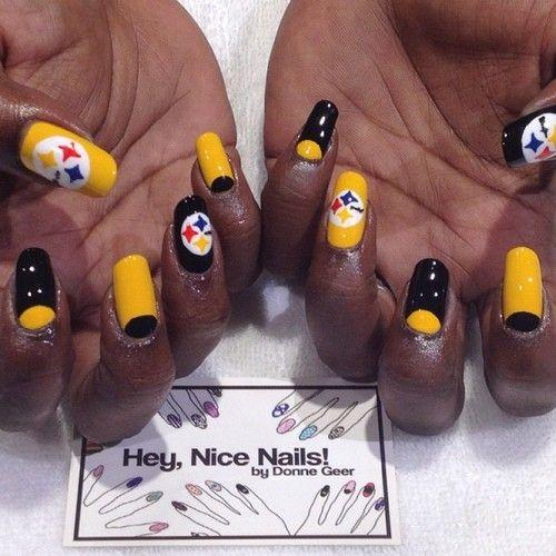 The Pittsburgh Steelers Nail Nails Nailart Nails Pinterest