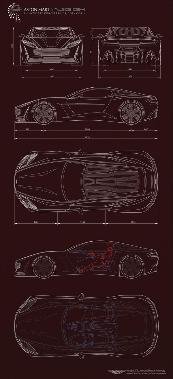 fa1336e230 Aston Martin VIE GH Anniversary 100 concept Part 1 by Grigory Gorin ...