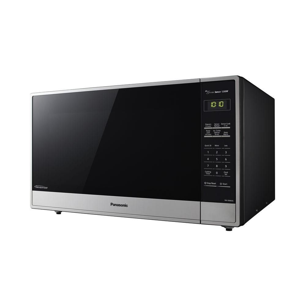 Panasonic 2 2 Cu Ft Countertop Microwave In Stainless Steel With