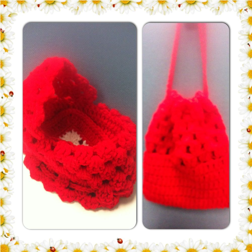 Crochet Cradle Purse-This is from a pattern … | Crochet- My version ...