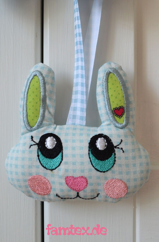 free ITH embroidery bunny / freebie Hase | Stickdateien Freebies ...