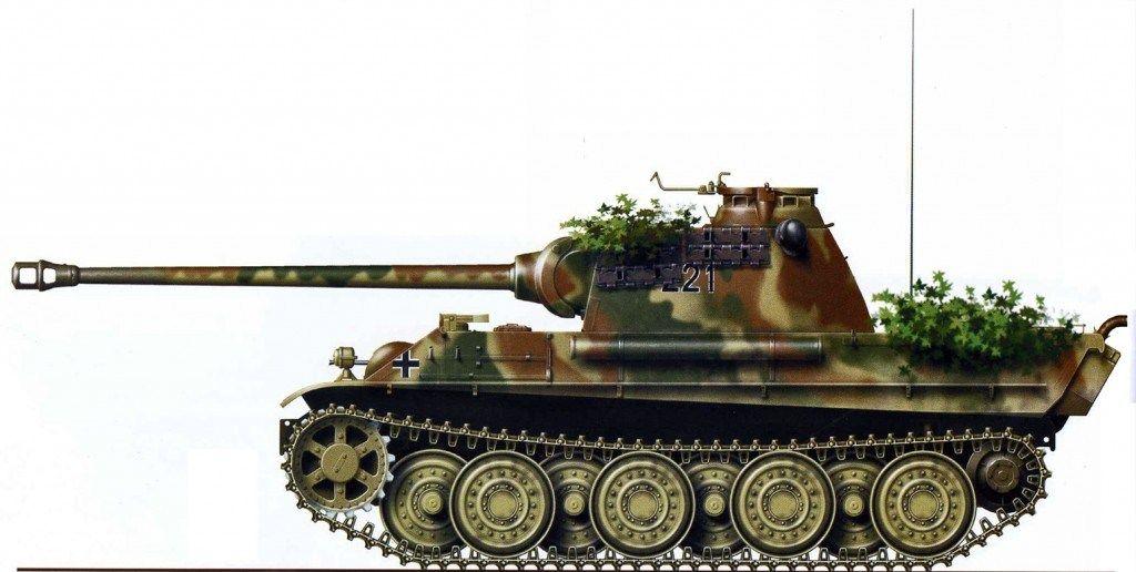 Pz.Kpfw.V Panther Aust G.№- 221 ,of SS-Scharfuhrer ...