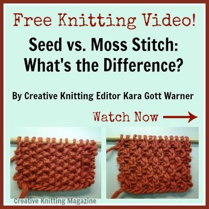 Double Moss Stitch Knitting Stitch 31 New Stitch A Day
