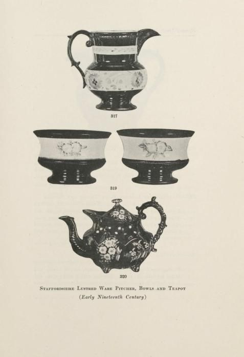 Illustrated catalogue of the valuable private collection of beautiful old English china and lustre ware including a remarkable series of tea sets, historical blue and white plates and platters and early English, French and Bohemian glass [electronic resource] : formed by the connoisseur, the late Mr. Charles Wiley of East Orange, New Jersey : to be sold at unrestricted public sale at the American Art Galleries, Madison Square South, on the afternoons herein stated (1921) ~ several Tea pots…