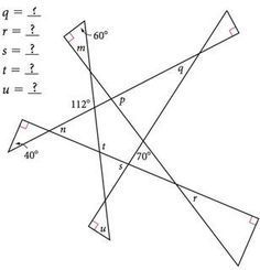 Looks like a good puzzle for angle relationships