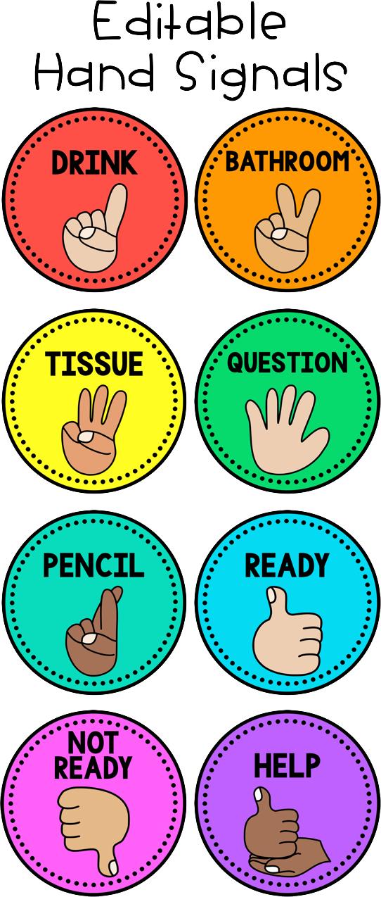 Sensational Hand Signals Editable Education Classroom Classroom Download Free Architecture Designs Scobabritishbridgeorg