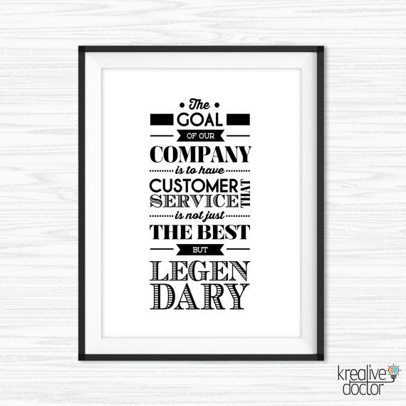 Customer Service Printable Quote Office Wall Art Goal Sayings Etsy Office Quotes Inspirational Quote Prints Teamwork Quotes
