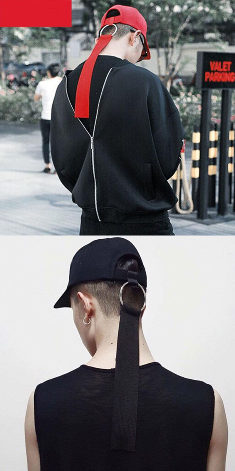 dd97f00331c Men women long strap caps cotton boy girl Hats Extra Long Back Strap  Snapback Hat Ball