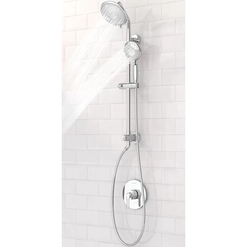 Spectra Versa 4 Function Temperature Control Complete Shower System With Flowise In 2020 Shower Systems Tub And Shower Faucets Shower Faucet