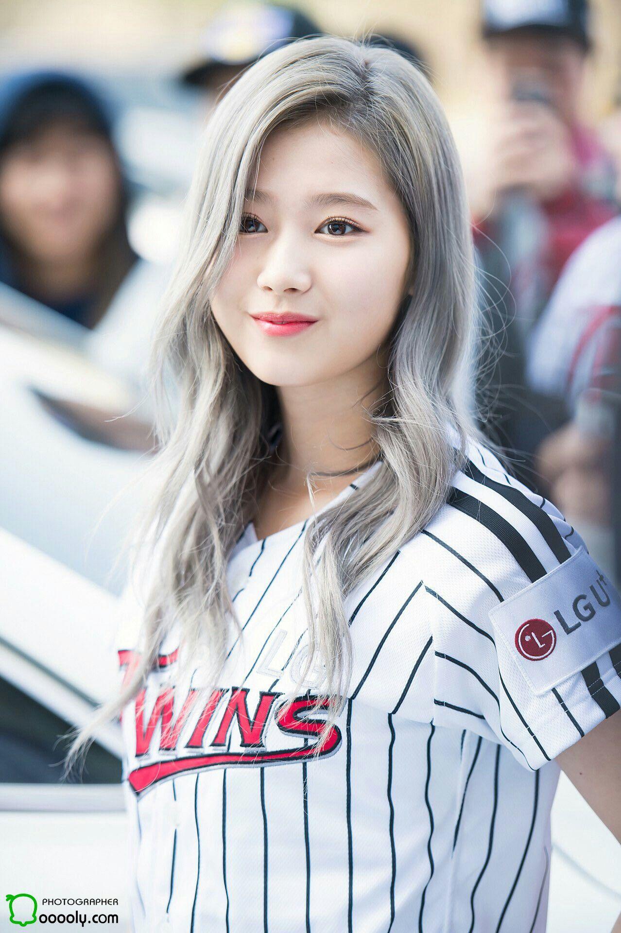 Silver Haired Sana Kpop Girls Girl Famous Girls