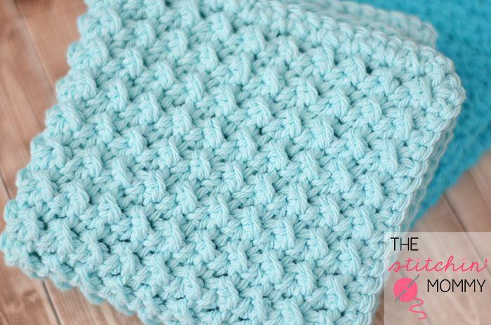 Easy Textured Washcloths - Two Free Patterns   Cobijas de bebe ...