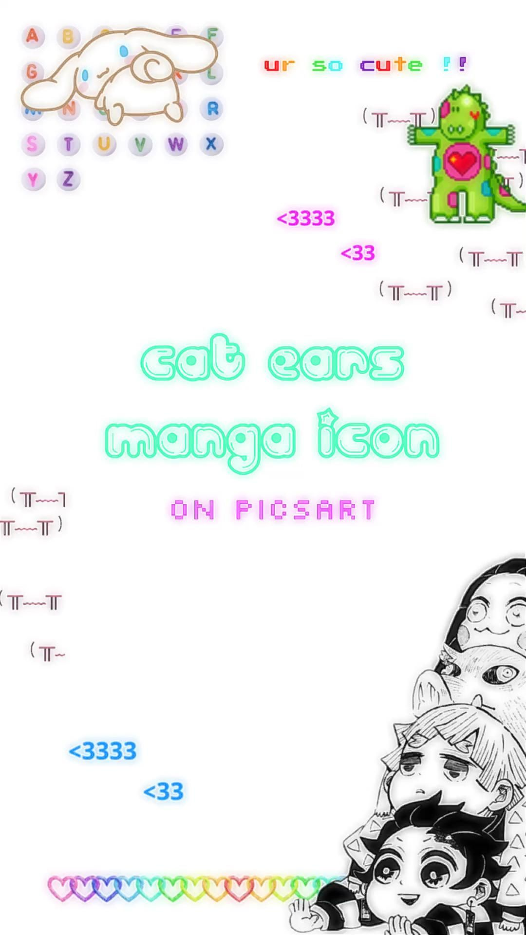 : how to make cat ears (catboy/catgirl) manga icons!¡