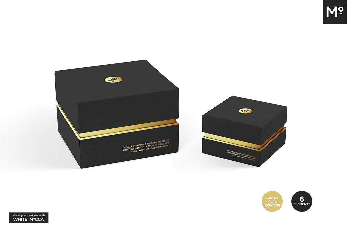 Download Jewelry Box Sets Mock Up Simple Business Cards Boxset Color Picker
