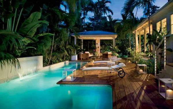 101 Bilder von Pool im Garten - pool infinity idee garten bilder - moderne gartengestaltung mit pool
