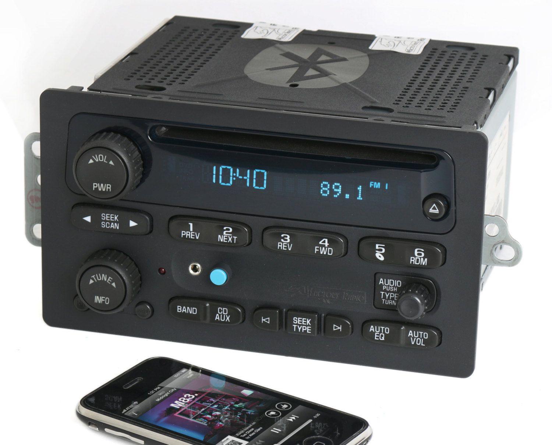 2005 To 09 Chevy Truck Cd Player Radio W Bluetooth Music Streaming And Aux Input 15234915 Sierra Silverado Suburban Trailblazer