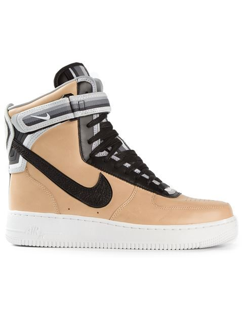 on sale c8dc0 c2b2c Shop Nike Riccardo Tisci  Beige Pack Air Force 1  hi-tops in Smets from the  world s best independent boutiques at farfetch.com. Over 1000 designers  from 300 ...
