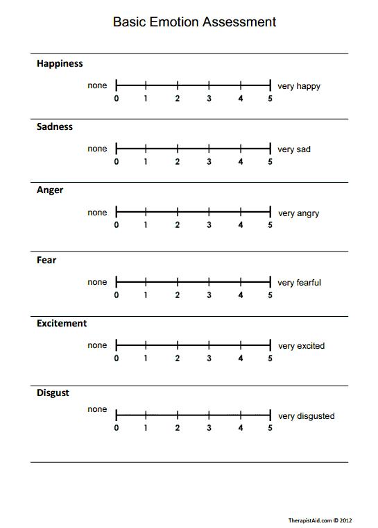 Basic Emotion Assessment (Worksheet   Pinterest   Träume