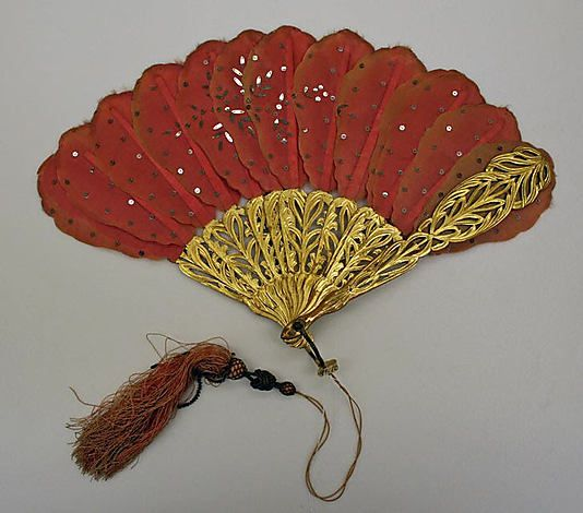 1868 fan, French, made of silk