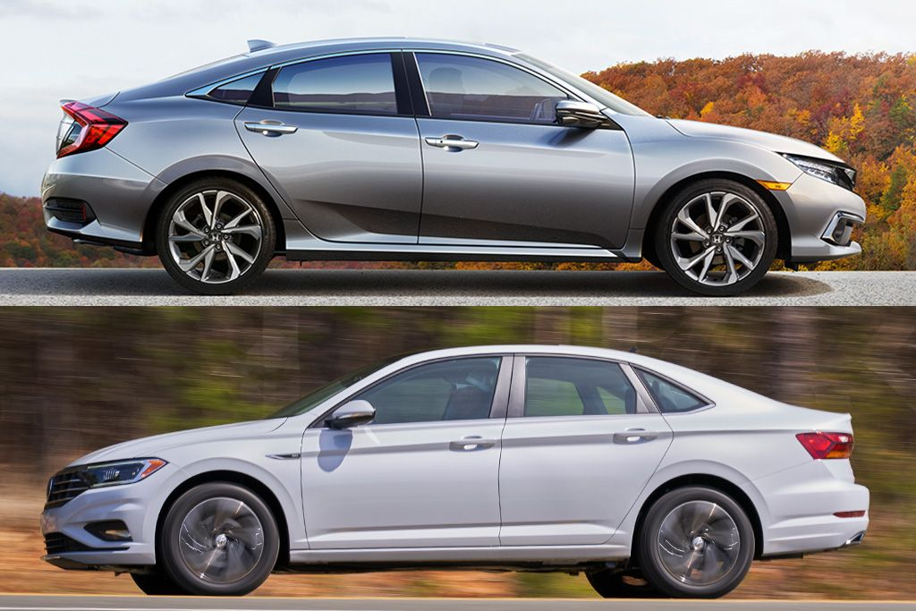 2019 Honda Civic vs. 2019 Volkswagen Jetta Which Is