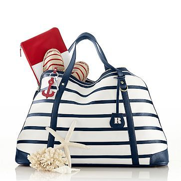 Audrey Striped Weekender #makeyourmark