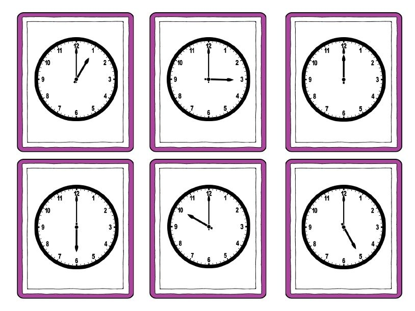 Telling Time Matching Game - Color | Telling Time | Telling