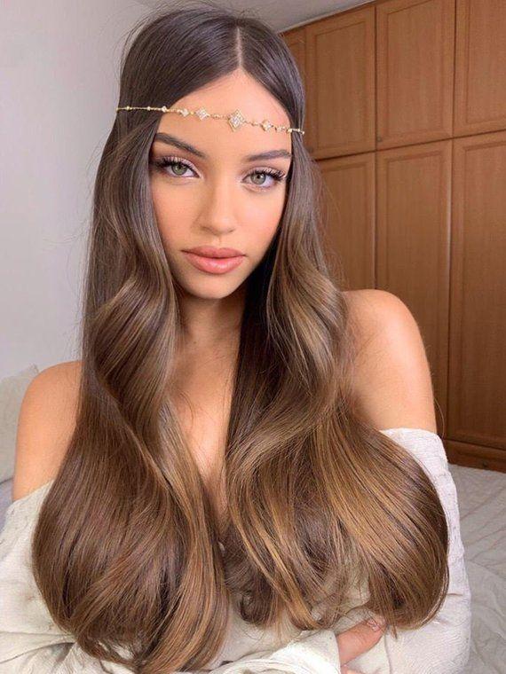 Boho Bridal Headband, Bridal Head Chain, Bridal Headpiece, Boho Head Piece, Bridal Forehead Band, Wedding Hair Accessory, Bridal Hairband