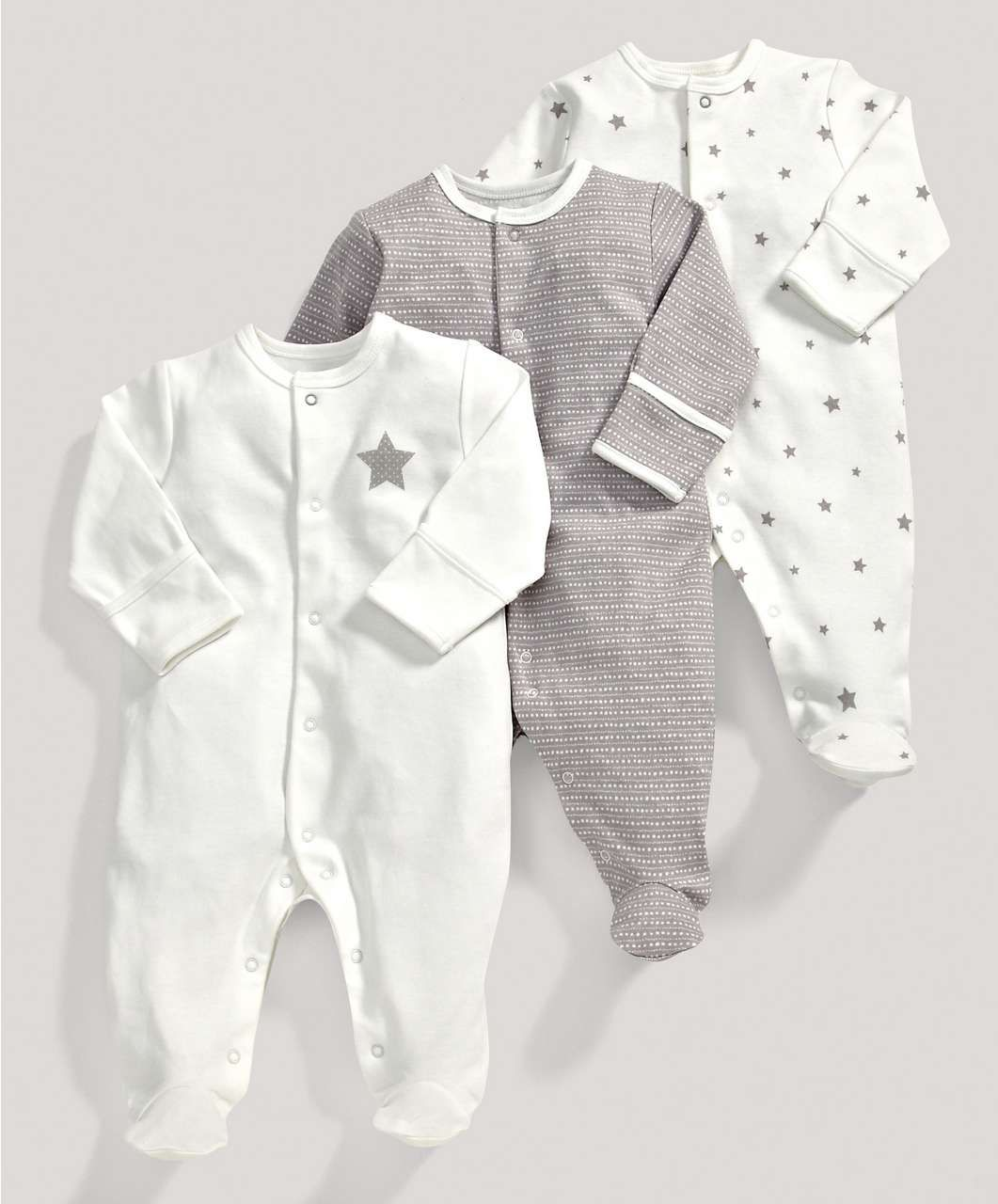 Unisex essentials three pack of millie and boris all in Baby clothing designers