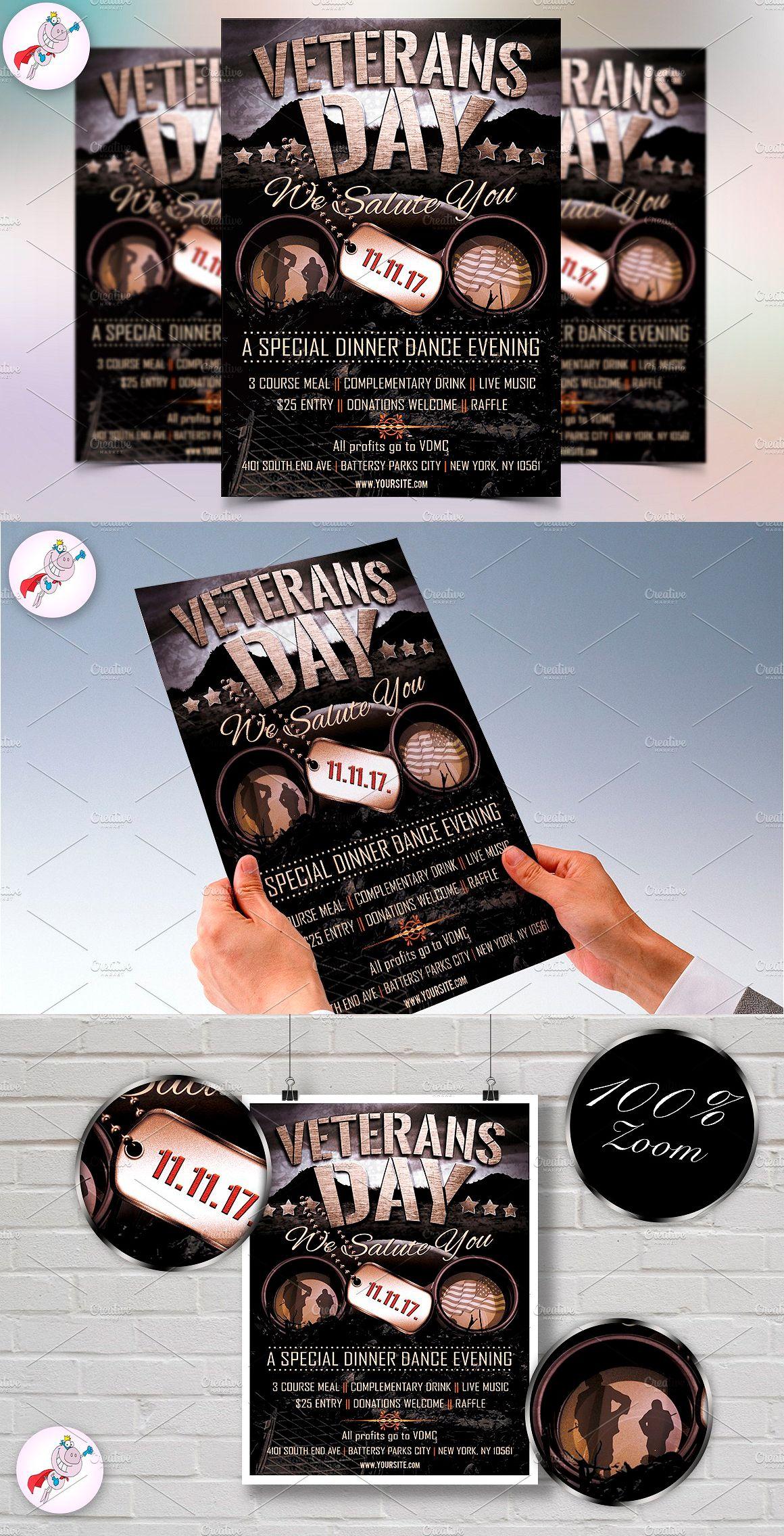 Veterans Day Flyer Template Psd  Flyer Templates