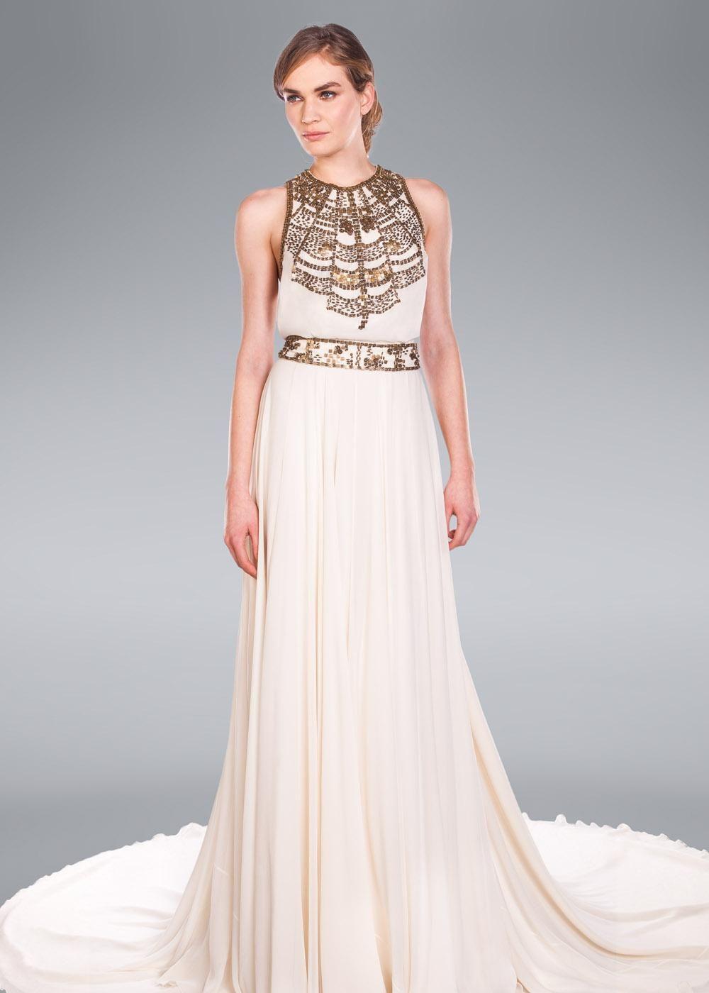 Egyptian inspired wedding dress