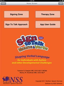 K Sign To Talk Nouns & Verbs App: Ideal for children who are