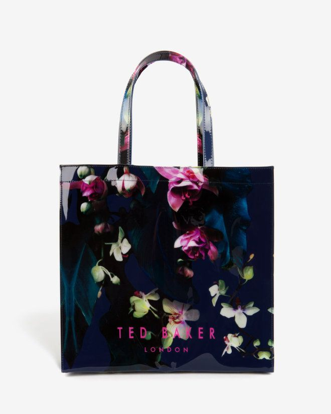 Large Fuchsia Floral Shopper Bag Floral Bags Ted Baker Handbag