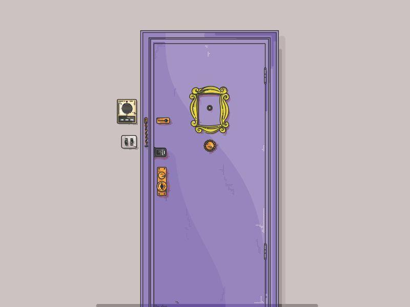 Friends !! Monica's apartment door !! | Monicas apartment ...