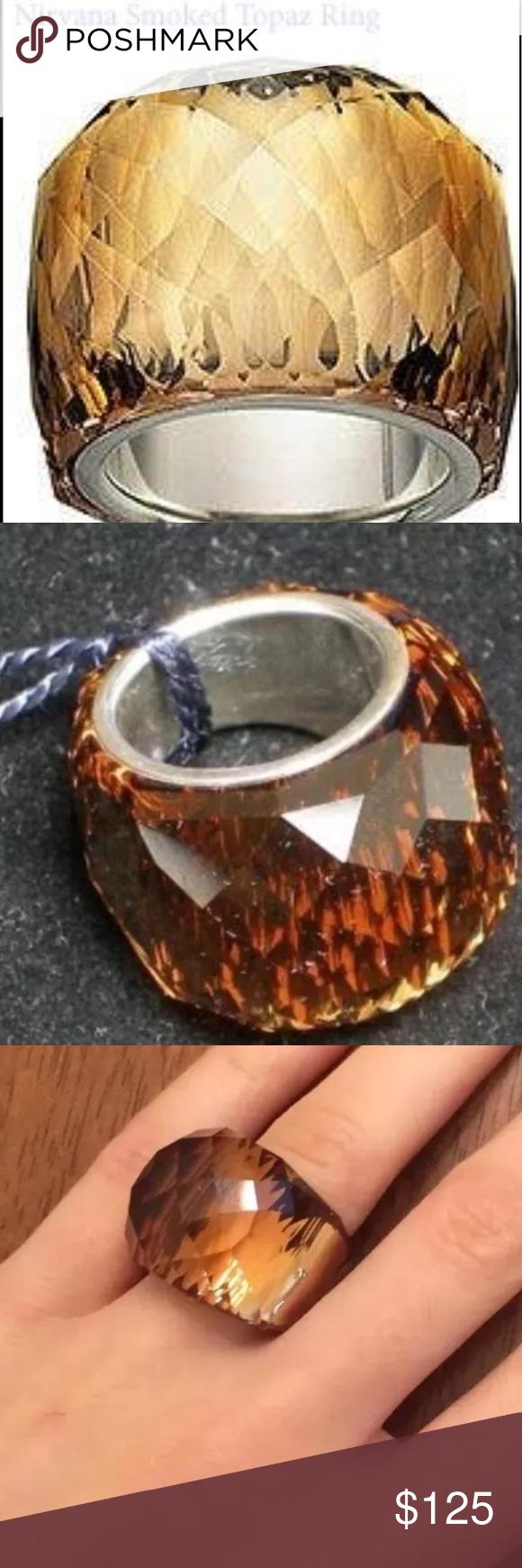 4f50b9db4b4b  190 SWAROVSKI Smoked Topaz RARE Nirvana Ring DANIEL SWAROVKSI Smoked Topaz  Crystal Nirvana Ring Size 50 Super Rare! Retired! This ring is brand new  and in ...