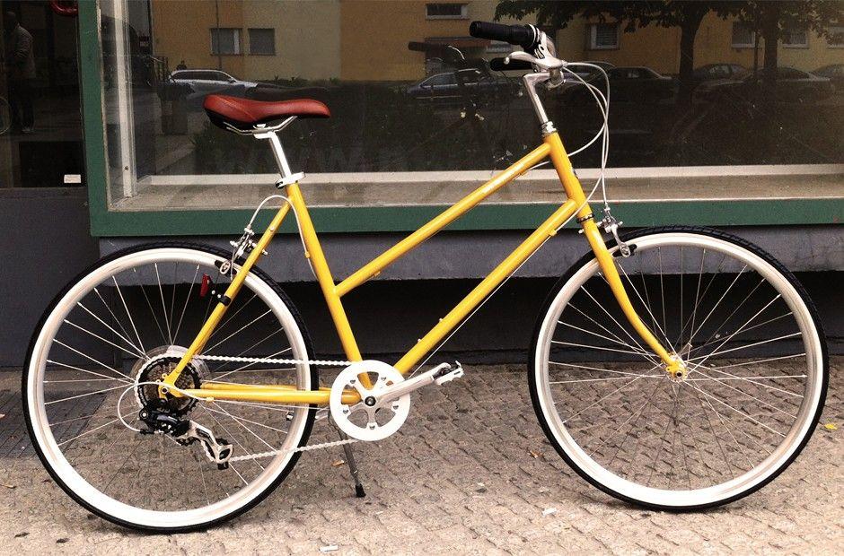A Yelllow Bike Awesome Bisou Unisex Bike Von Tokyobike Monoqi