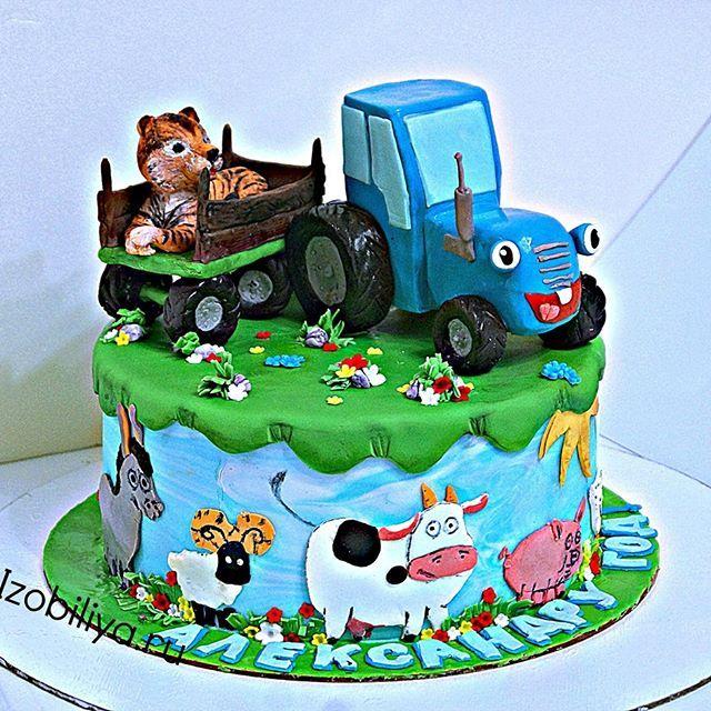 Торт из мультика Синий трактор! | Торт в виде трактора