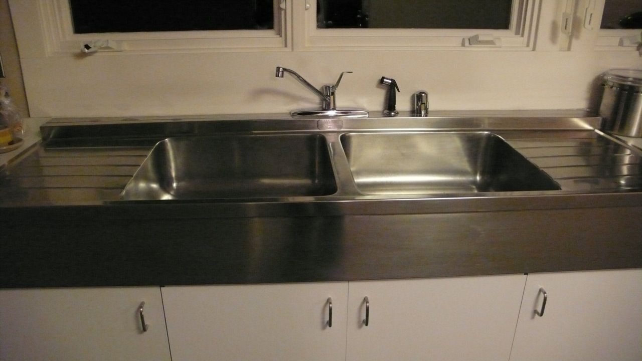 Lkay Sturdibilt Double Basin Stainless Steel Sink With Double Drainboard The Dimensions Are 72l