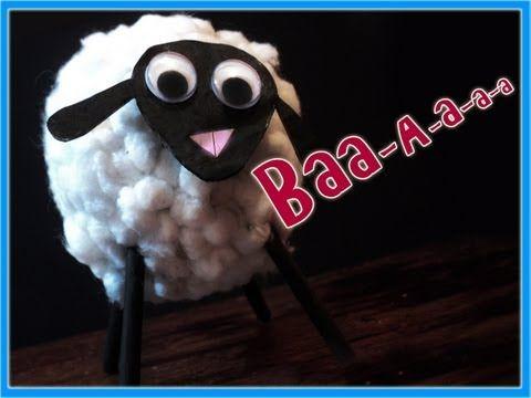 Manualidades oveja de algodon para ni os por georgio for Manualidades de navidad para ninos