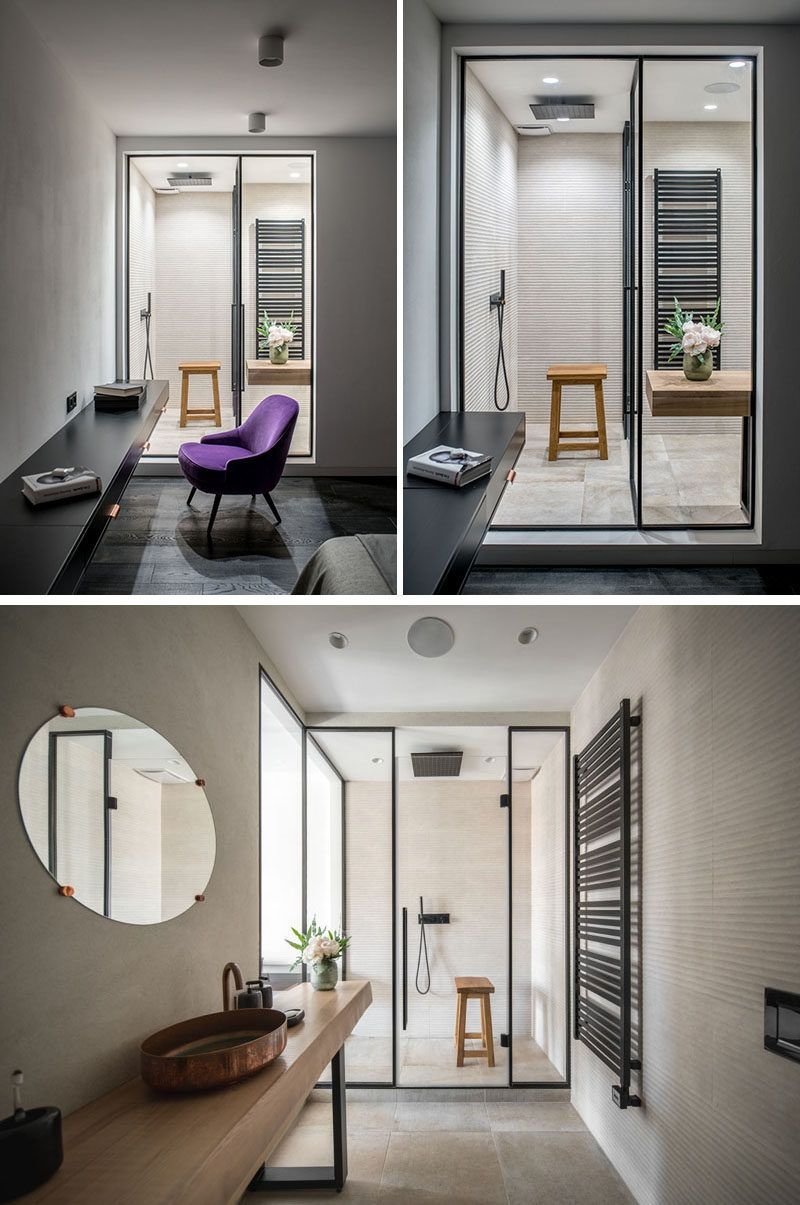 Moderne Slaapkamer En Suite Two Apartments Were Combined To Make One Large Apartment For A