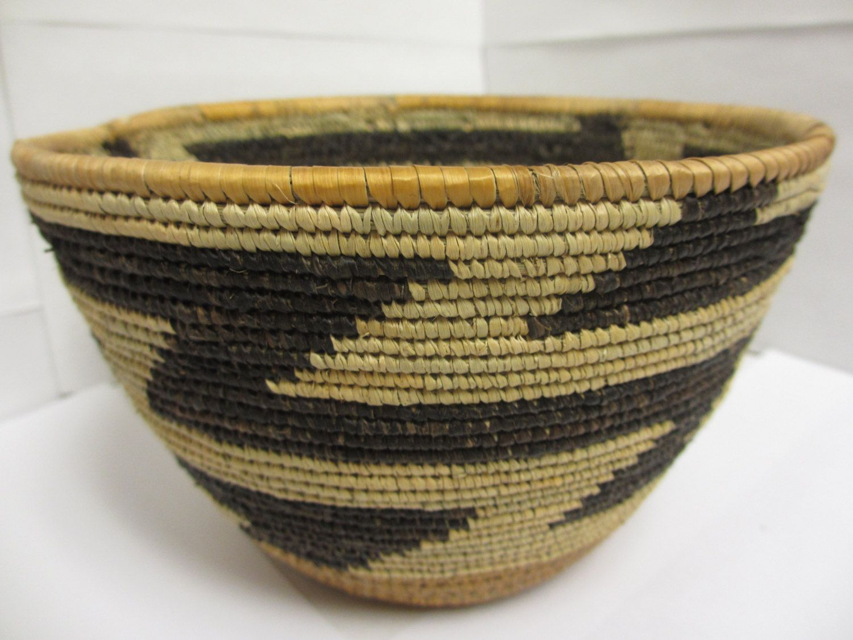 Handmade Woven Natural Pattern Medium Bowl - Nyaka, Uganda ...