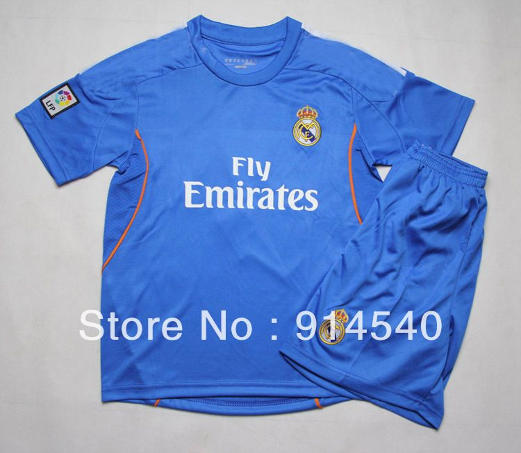 2013-14 New Real Madrid Away kids soccer jerseys 03a4a0e6687cb