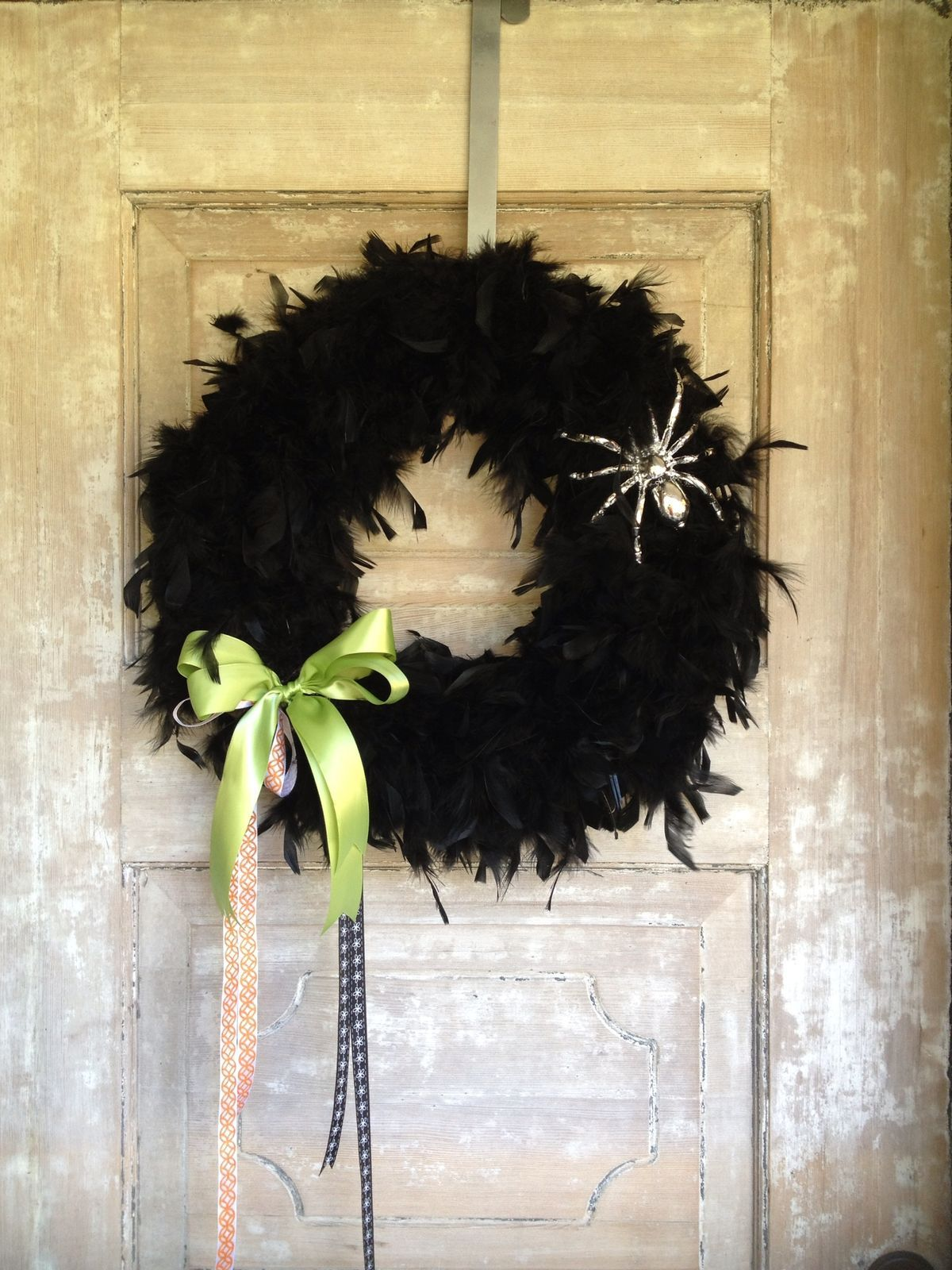 Spray Paint Spider For Black Wreath