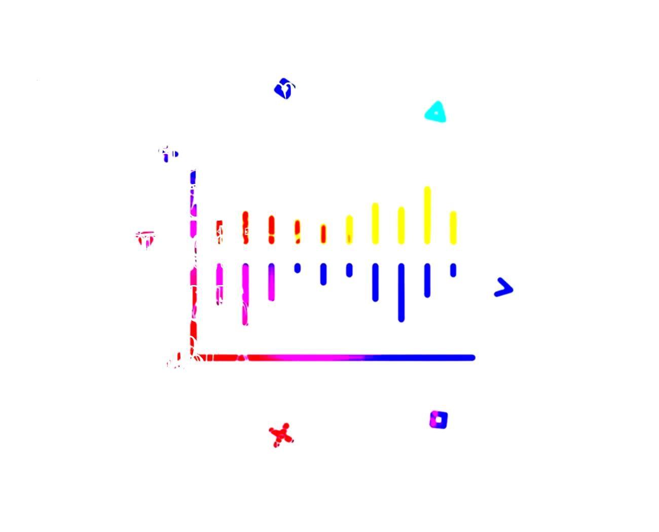 Illustration Symbolcolumn Shapeschart Shapesicon Investment Vectorline Financial Geometric Colorful Gradient Business Shcharti Exchange Shchart D 2020