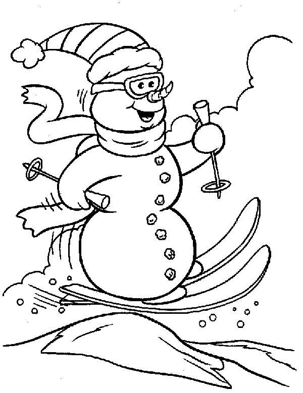 frosty the snowman coloring pages 2 - Snowman Color Pages 2