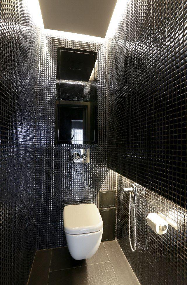 черный туалет | Черный туалет, Дизайн квартиры, Дизайн