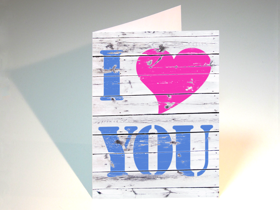 I LOVE YOU 2, Klappkarte, als pdf-Download in unserem MYRosenbergDesign-SHOP.