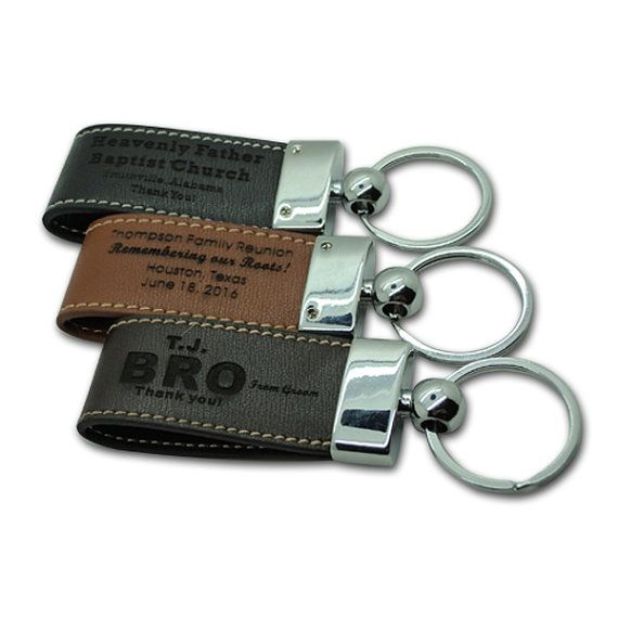 personalized leather engraved key chain key ring handsome groomsmen