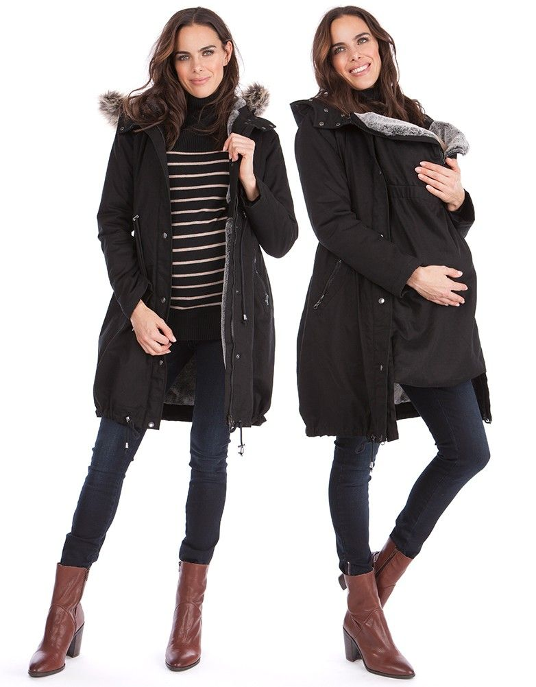 45629bd0957d 3 in 1 Winter Maternity Parka